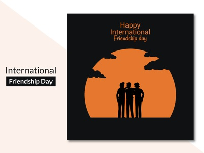 Clean International friendship day background Free Vector graphic design 2d beautiful banner poster social media ui illustration concept flat clean creative brand branding design