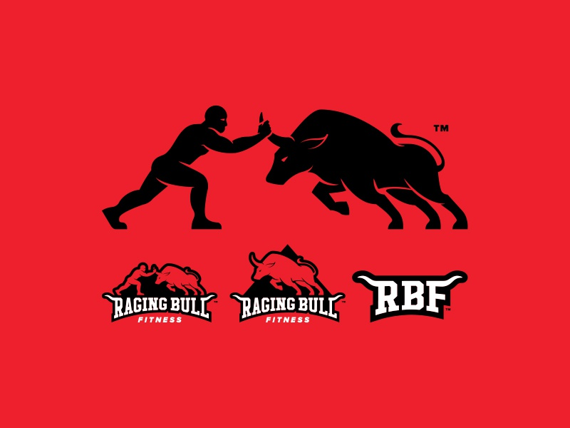Raging Bull Fitness - Logo Comps by Brooks Brackett on ...