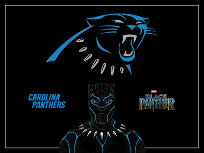 Carolina Black Panthers sketch drawing illustration social media black tchalla black panther nfl carolina panthers