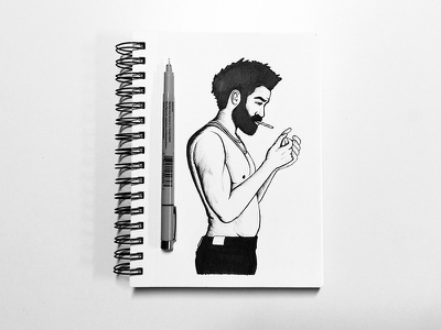 This is America Sketch america smoking sketchbook ink pen illustration sketch music donald glover childish gambino this is america