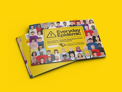 Everyday Epidemic - Hospital Score Booklet colorful crowd vector people collage health drugs brochure print booklet epidemic opiate opioid