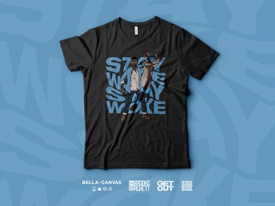 The WOKE Shirt clothing brand clothing bella canvas illustration blood jordan peele black buck deer apparel shirt get out stay woke