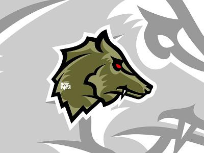 Right Side Wolf Logo mascot design symbol icon brandmark brand mark logos wild wolves wolf logo animal vectorcharacter character illustration graphic graphicdesign vector