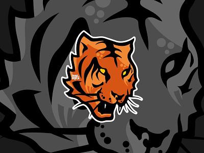 Tiger Logo mascot symbol icon logomark logogram brandmark jungle king tiger wild mark logo animal vectorcharacter character illustration graphic graphicdesign vector