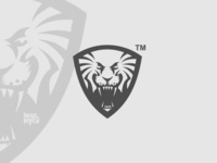 Lion Shield Logomark Blackwhite