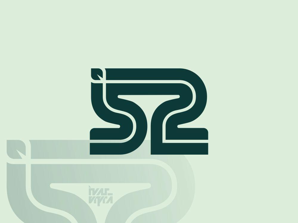 52 Leaf Monogram letter number 52 leaf monogram monogram logo logotype identity logomark brand branding brandmark logogram logo icon symbol mark