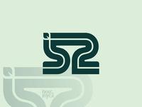 52 Leaf Monogram