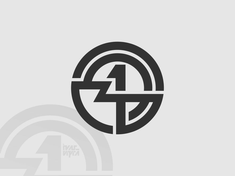 4 or 14 Monogram 14 4 initials initial number monogram logo monogram logotype identity logomark brand branding brandmark logogram logo icon symbol mark