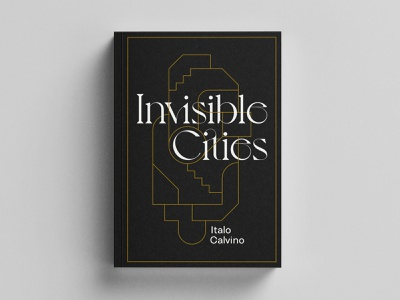 Invisible Cities Book Cover jacket novel book print vector design branding typography illustration