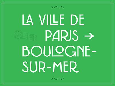 New typeface french logotype logo lettering signage typography typedesign type