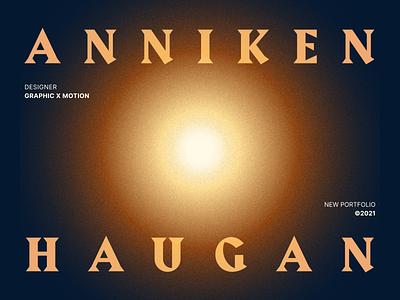 Anniken Haugan branding logo typography illustration website