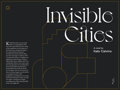 Invisible Cities website gold invisible cities calvino italo novel geometry illustration book typography