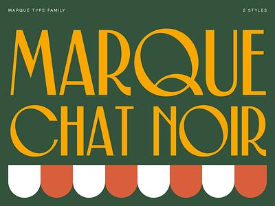 Marque Classique typeface font type signage minimal branding logo flat illustration typography