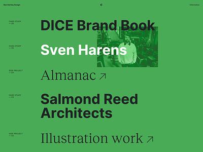 Portfolio design portfolio web minimal branding flat typography website ui