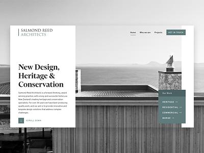Architecture homepage gallery showcase ui ux website work portfolio architecture