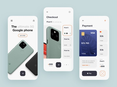 E-commerce Mobile App concept mobile app design google grid clean app mobile ui figma interaction interface uiux mobile app mobile