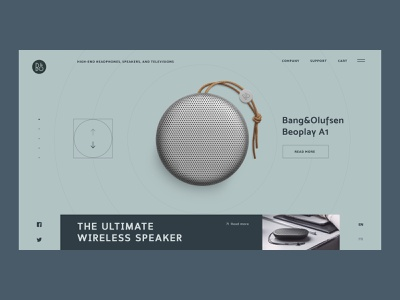 B&O Showroom logo simple interaction typography branding minimal design grid circles music clean web interface ux ui