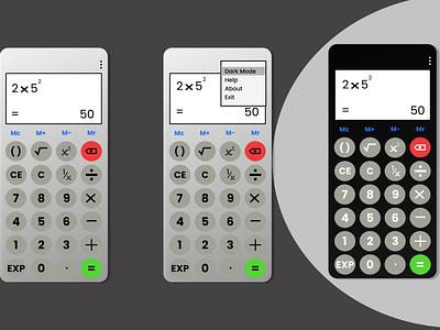 standard calculator app #DailyUI 004 app ui design