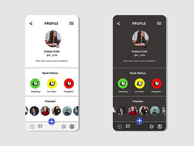 #DailyUI 006 user profile app ui design