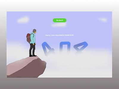 #DailyUI 008 404 page (repost) illustration vector web app ui design