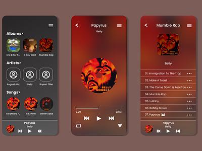 #DailyUI 009 music player ui app design