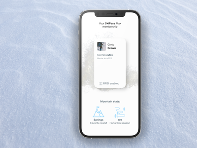 Ski Membership rotato iphone app ski portfolio xd