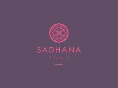 Sadhana Yoga identity branding logo design yoga mandala