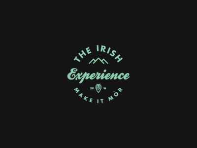 The Irish Experience graphic design visual identity adventure ireland contemporary design vintage icon branding logo