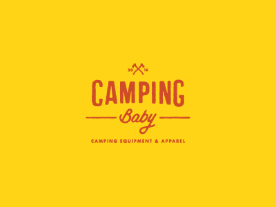 Camping Baby visual identity lettering type camping simple creative contemporary design vintage icon branding logo
