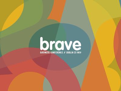Brave Business Conference visual identity brave multicolor studio modern creative contemporary design vintage branding logo