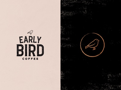 Early Bird Coffee Roaster Logo ☕ vectorart artwork vintage style logo bird logo early bird coffee logo coffee roasters logo artdirection