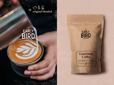 Early Bird Coffee & Package Design badgedesign packages craft package coffee art coffee branding artdirection logotype coffee bag package design