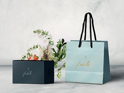 Fidelle Package Bag and Jewelry Box jewelry package jewelry bag design bag design packaging