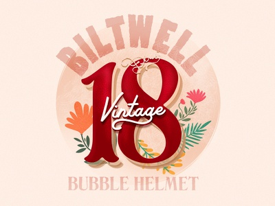 Biltwell Helmet No.18 18 number18 helmetdesign helmet illustrator cc illustration art
