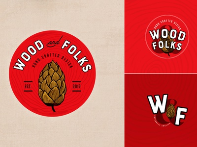 Wood&Folks Logo Design custom furniture design hand crafted furniture hand crafted