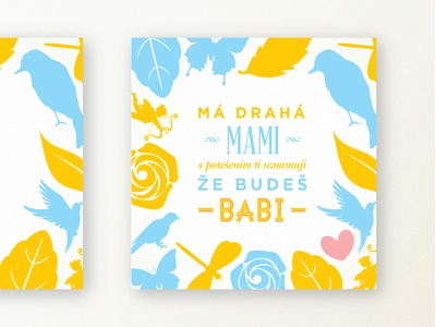 Mum to be a gran card typography pattern