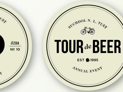 Tour de Beer Mat beer typography bike mat