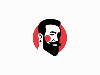 Bearded Man sale mark identity logo barber shop man face bearded man barber beard