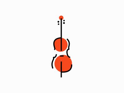 Cello sale brand symbol geometric design vector mark identity logo modern musician violin classical music cello