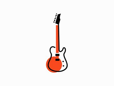 Guitar sale branding geometric design vector mark identity guitarist rock music logo guitar