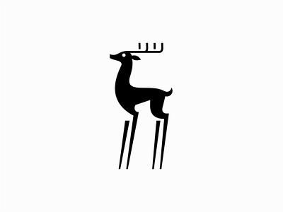 Deer logo sale symbol branding design vector animals mark identity logo whitetail buck animal deer