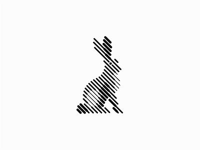 Rabbit bunnies lines sale symbol geometric design vector animals mark identity logo bunny rabbit