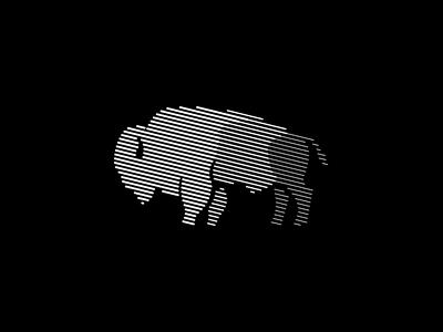 Bison sale scratchboard wild symbol branding geometric vector animals mark identity logo buffalo bison