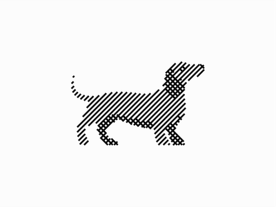 Dachshund animal wiener dog wiener lines sale vector design geometric branding mark identity logo animals pet dog