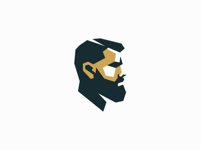 Bearded Man bearded man people face portrait sale geometric branding design vector mark identity logo beards man barbershop barber beard