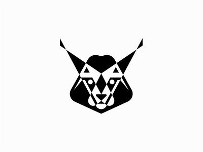 Lynx sale geometric branding design vector animals mark identity logo wild cat feline lynx