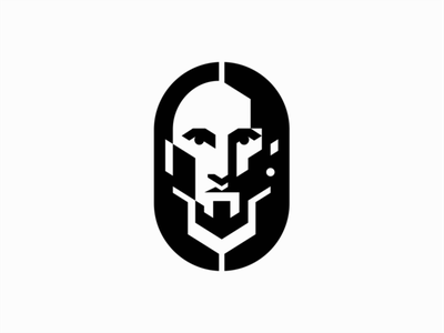Personal Mark people man portrait personal branding face illustration symbol geometric branding design vector mark identity logo personal