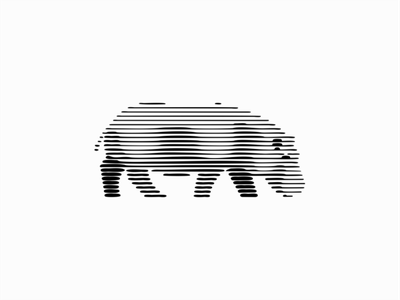 Hippo lineart linestyle lines scratchboard power wild strenght strong hippo animal sale symbol geometric branding design vector animals mark identity logo