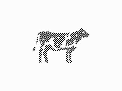 Cow abstract lines line farm dairy cattle cow animal sale symbol geometric branding design vector animals mark identity logo