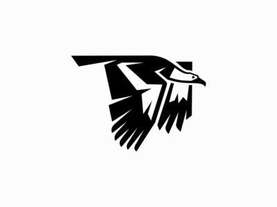 Vulture fly wings eagle wild vulture bird animal sale symbol geometric branding design vector animals mark identity logo